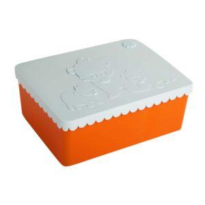 wijs west wijswest online shoppen winkel amsterdam speelgoed Blafre BL7608 Eten & Drinken 7090015486282 Blafre Lunchbox Beren Oranje Lichtblauw
