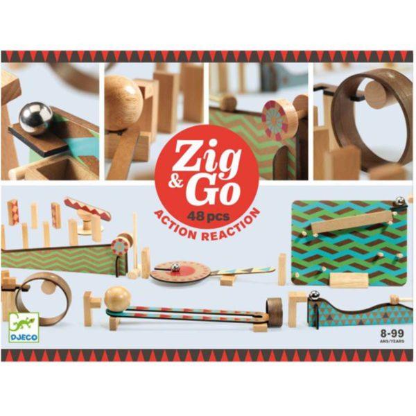 djeco wijs west wijswest online shoppen winkel amsterdam speelgoed Djeco DJ05644 Experimenteren 3070900056442 Djeco Zig & Go - 48 pcs