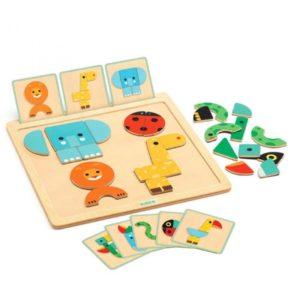 djeco wijs west wijswest online shoppen winkel amsterdam speelgoed Djeco DJ06210 Puzzels 3070900062108 Djeco Magneet Bord GeoBasic