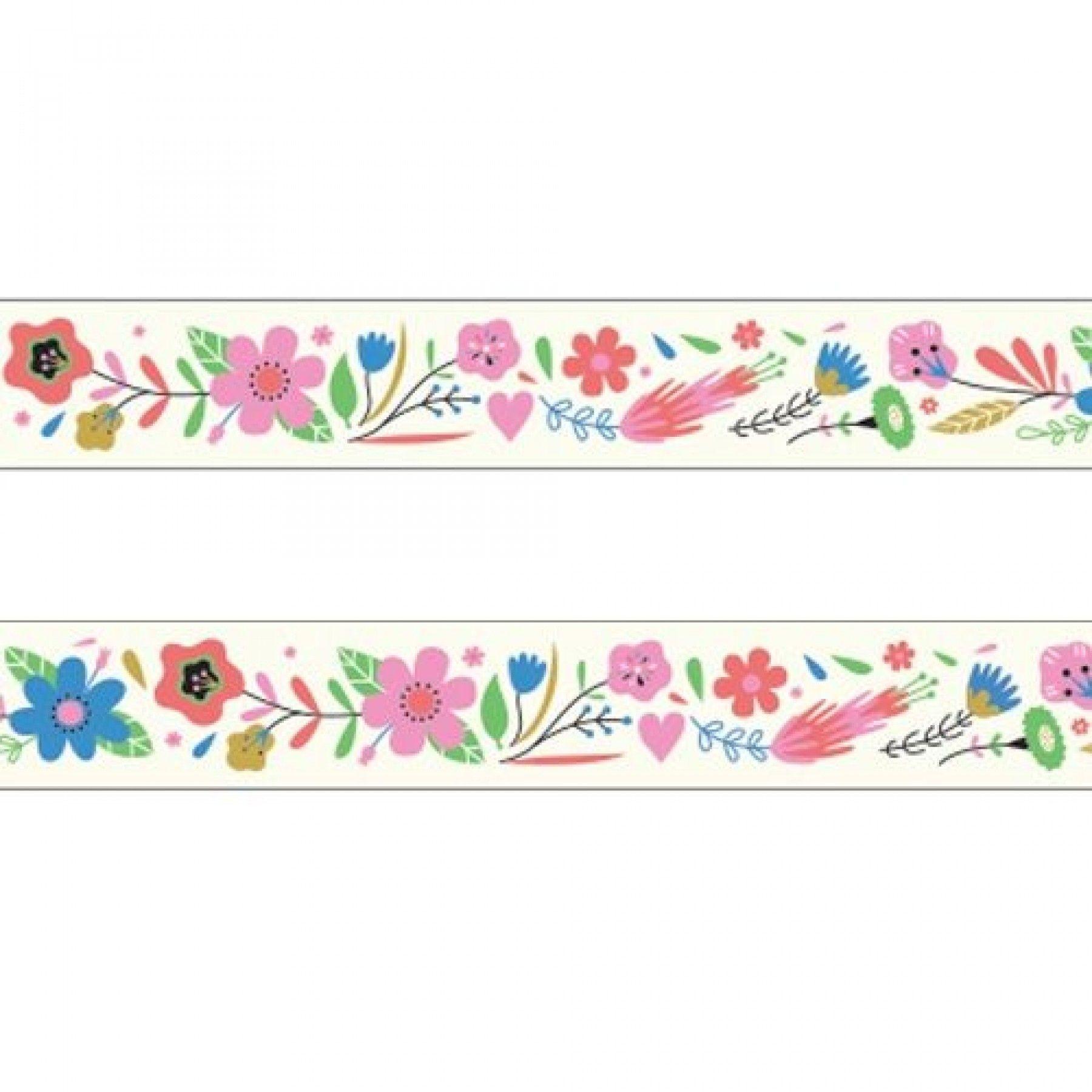 djeco masking tape fleurs wijs west. Black Bedroom Furniture Sets. Home Design Ideas