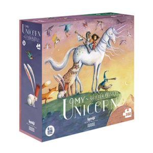 londji my unicorn puzzle puzzel 350 stukjes glitter eenhoorn