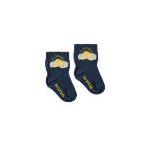 tiny cottons babysokken blauw met slapende zon kraamcadeau online webshop winkels Amsterdam