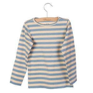 Wijs west Little Hedonist Longsleeve Elana Blue Fog-Bleached Sand striped  SS20 Kleding & Accessoires Shirt longsleeve