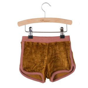 Wijs west Little Hedonist SweatshortGigi Gold-Burlwood piping  SS20 Kleding & Accessoires Broeken Korte Broeken