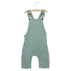 Wijs west Little Hedonist Short Legged Salopette Lolita Chinois Green  SS20 Kleding & Accessoires Jumpsuits & Overalls