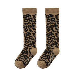 Wijs west Maed for Mini Brown Leopard Knee Socks  SS20 Kleding & Accessoires Sokken & Maillots