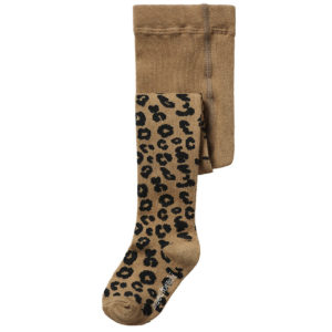 Wijs west Maed for Mini Brown Leopard Tights  SS20 Kleding & Accessoires Sokken & Maillots
