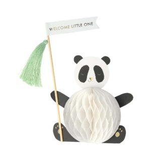 Meri Meri kaarten wijs west winkel online webshop panda geboorte kaart