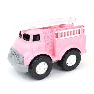 green toys roze brandweerauto