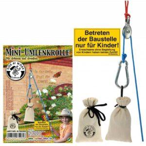 Wijs west Kids at work Mini katrol met touw en zakjes  KW.KKS.11 Speelgoed & Spellen Bouwen
