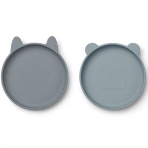Liewood Olivia Plate Blue Mix - 2 Pack