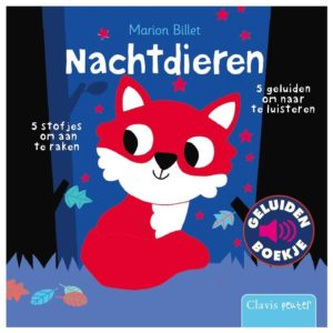 Wijs west  Geluidenboek: Nachtdieren 9789044838794 Uitgeverij Clavis Boeken & Kleurboeken Voel-/geluidboeken