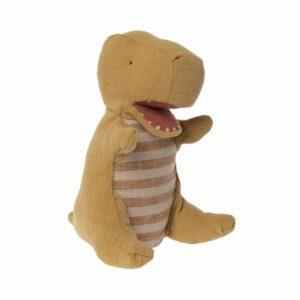 Dinosaur Handpuppet Mosterdgeel