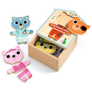 Wijs west Djeco  3070900016781 Djeco Speelgoed & Spellen Puzzels  Djeco Aankleed Puzzel