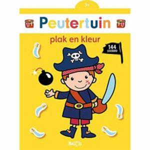 Plak en kleur, piraat.