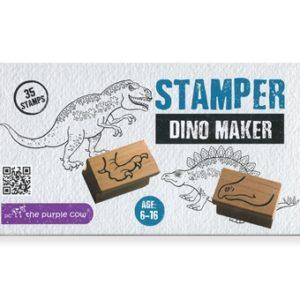 Wijs west The Purple Cow Dino Maker 35 stempels 7290018133095 Schleich Speelgoed & Spellen Knutselen