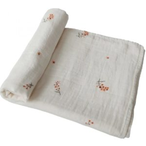 Mushie Swaddle Flowers Wijs West