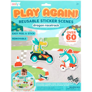 Ooly - Play Again Reusable Sticker Scenes - Dragon Racetrack