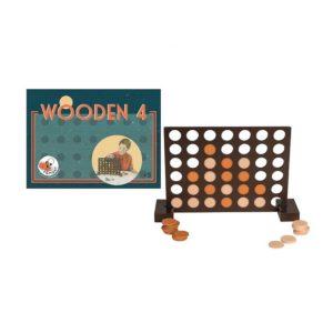 4 op een rij houten spel online wijs west