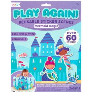 Ooly - Play Again Reusable Sticker Scenes - Mermaid Magic