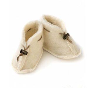 Alwero Babyslofjes Emo Wool Natural
