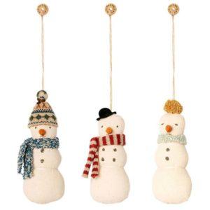 Maileg Snowman ornament, 3 ass.