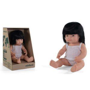 Miniland babypop Aziatisch Haar