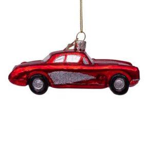 Vondels Kerstbal Rode Auto