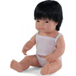 miniland babypop aziatisch jongen