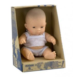 miniland babypop aziatische jongen