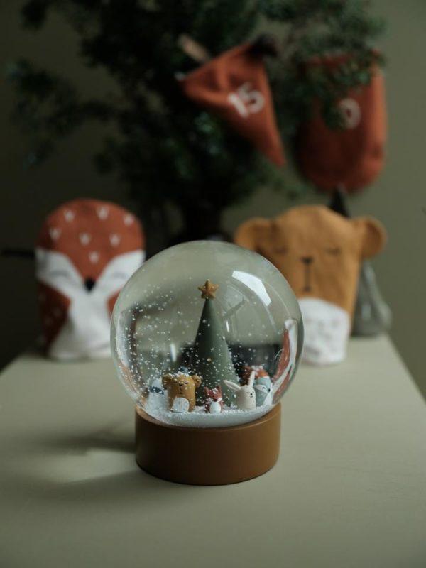 Fabelab Snow Globe - Woodland Animal Christmas Wijs West