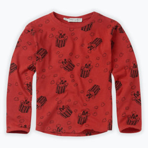 Wijs west Sproet & Sprout Sproet & Sprout T-shirt Popcorn  1138187044421 Sproetaw20-1 Kleding & Accessoires Shirts