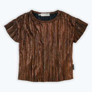 Wijs west Sproet & Sprout Sproet & Sprout Top Ruffle Metallic 1138187044841 Sproetaw20-1 Kleding & Accessoires Shirts