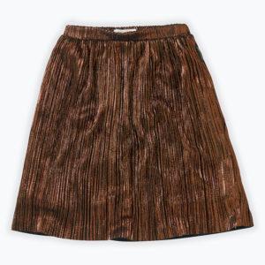 Wijs west Sproet & Sprout Sproet & Sprout Midi Skirt Metallic Gold 1138187046784 Sproetaw20-1 Kleding & Accessoires Rokjes & Jurkjes