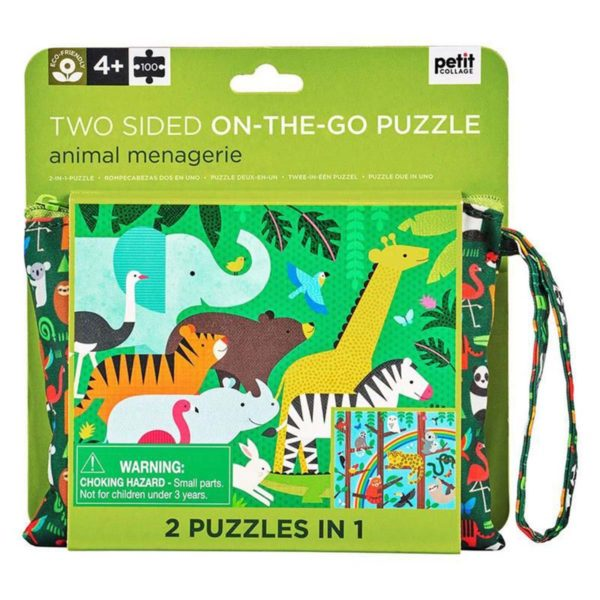 Two Sided On The Go Puzzle - Animal Stampede