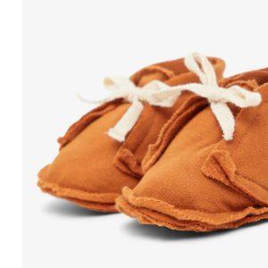 Wijs west Lil' Atelier Lil' Atelier Slofjes Glazed Ginger 5715097884253 Atelierdec20 Kleding & Accessoires Baby Slofjes