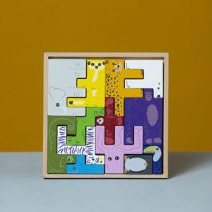 Wijs west Super Blocco 3D dieren Puzzel 7424914884892 SuperB Speelgoed & Spellen Puzzels