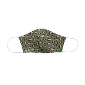 Mondkapje Adults Green & Pink Cheetah