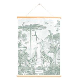Schoolplaat Giraf en Aapjes Pimpelmees Wijs West