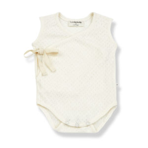 Wijs west 1+ in the Family 1+ In The Family Amelie Ecru 8448211001508 SS21 1+Family Kleding & Accessoires Baby Rompers