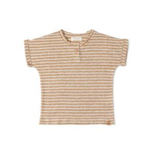 Wijs west Nixnut Nixnut Be Tshirt Caramel Stripe 8720053287853 SS21Nixnut Kleding & Accessoires Shirts T-shirts