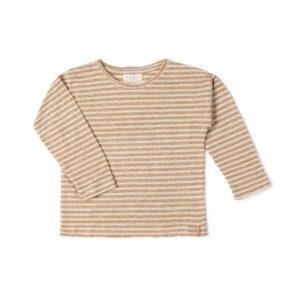 Wijs west Nixnut Nixnut Be Longsleeve Caramel Stripe 8720053287419 SS21Nixnut Kleding & Accessoires Shirts Longsleeves