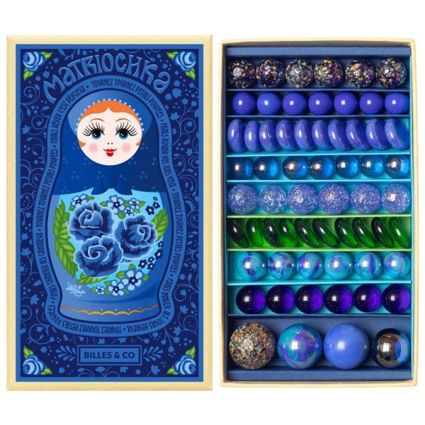 Billes & Co Box Box Matriochka Yelena bleu