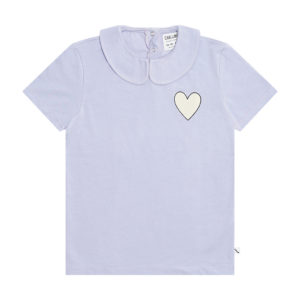 Wijs west CarlijnQ CarlijnQ Hearts - T-Shirt Collar With Print 8720289686666 SS21 CarlijnQ Kleding & Accessoires Shirts T-shirts