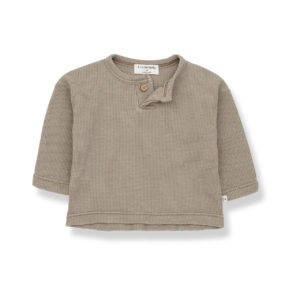 Wijs west 1+ in the Family 1+ In The Family Ismael Khaki 8448211018094 SS21 1+Family Kleding & Accessoires Baby Shirts