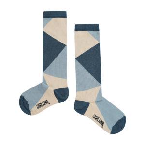 Wijs west CarlijnQ CarlijnQ Knee Socks - Color Block 8720289670696 SS21 CarlijnQ Kleding & Accessoires Sokken & Maillots