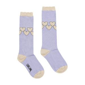 Wijs west CarlijnQ CarlijnQ Knee Socks - Hearts 8720289670849 SS21 CarlijnQ Kleding & Accessoires Sokken & Maillots
