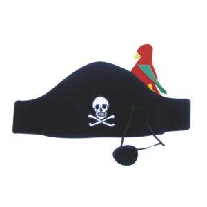Piratenhoed met ooglap en Papegaai