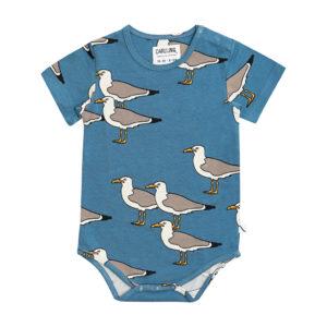 Wijs west CarlijnQ CarlijnQ Seagull - Bodysuit Short Sleeve 8720289681548 SS21 CarlijnQ Kleding & Accessoires Baby Rompers