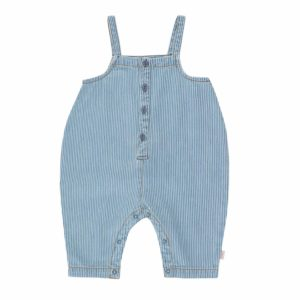 Wijs west Tiny Cottons Tiny Cottons Striped Denim Dungaree 8434525188745  Kleding & Accessoires Jumpsuits & Overalls